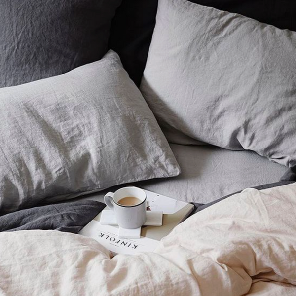Parcel London blog - Mothers day presents, gifts, party, food, snacks, rest, bed, linen, grey, scandi.