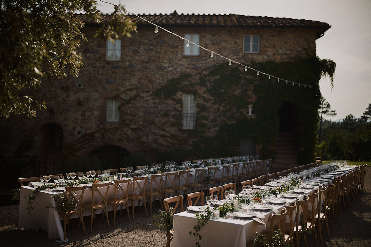 Parcel London blog, Just saying, Advice for Brides. Villa Podernovo Italy wedding table