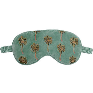 Parcel London. elizabeth Scarlett velvet palmker eye mask