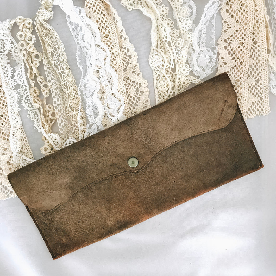 Suede Brown Clutch