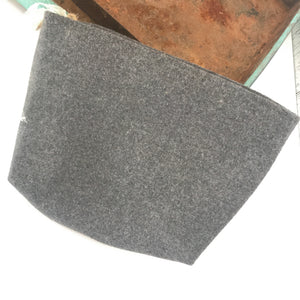 Dark grey felt Zipper Bag
