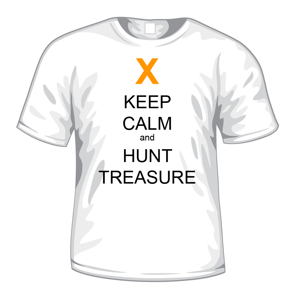 Keep Calm and Hunt Treasure t-shirt - The Great Game Treasure Hunts