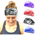 2019 new dyeing Women's Tie-Dyed Head Band Wide Cotton Stretch Headband Girls Lady Headwear Turban Bandana Sports Yoga Hairband