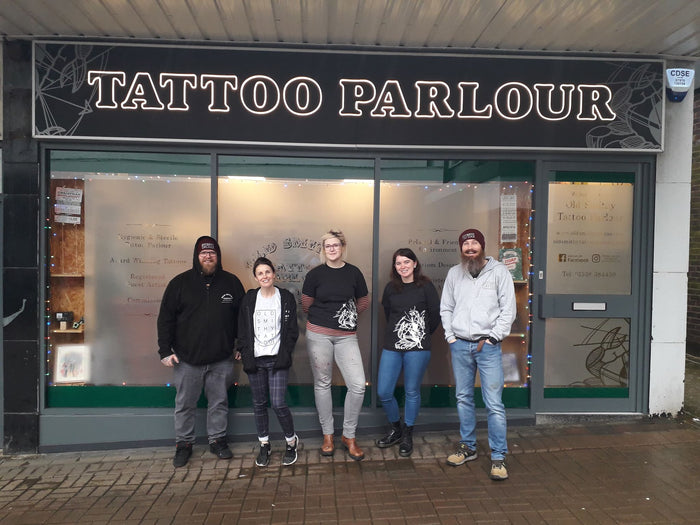 Give for the love of giving, at the Old Smithy Tattoo Parlour