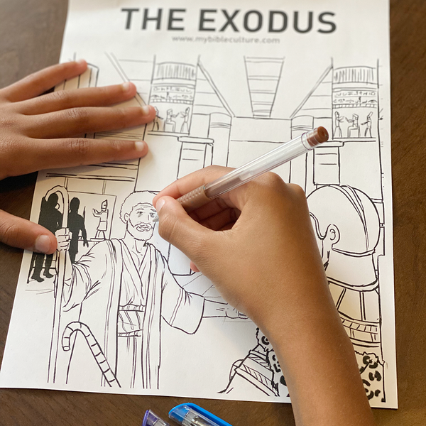 The Exodus Coloring Page