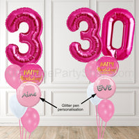 Shaped Number Balloons