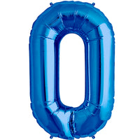 Blue zero shaped balloon.