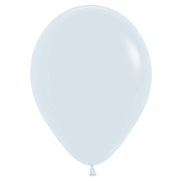 Pastel blue latex balloon.