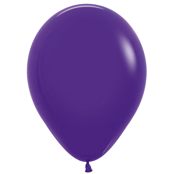 Violet latex balloon.