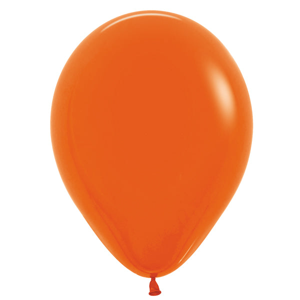 Orange latex balloon.