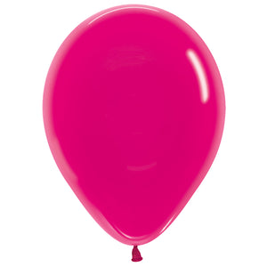 Fushsia latex balloon.