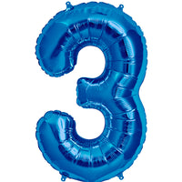 Blue three balloon.