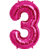 Pink shaped three balloon.
