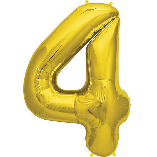 Gold four shaped  balloon.