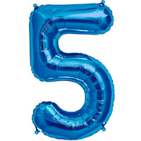 Blue five shaped balloon.