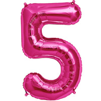 Pink five shaped balloon.