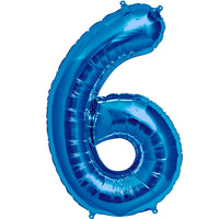 Blue six shaped balloon.