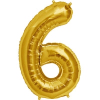 Gold six shaped balloon.
