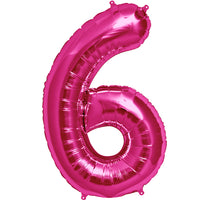 Pink six shaped balloon.