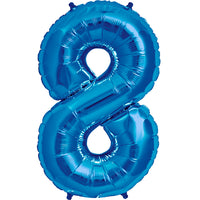 Blue eight shaped balloon.