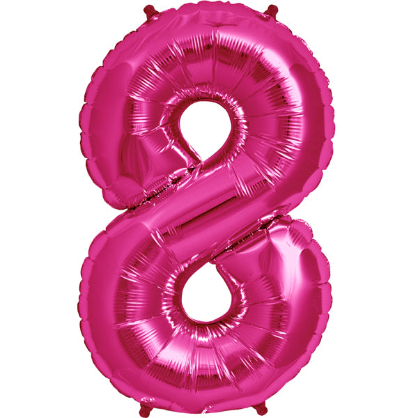 Pink eight shaped balloon.