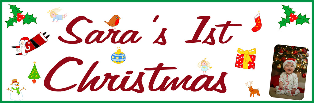 Personalised Christmas banner with photo.