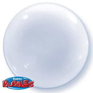 Clear round transparent balloon.