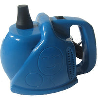 Blue electric balloon inflator.
