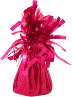 Hot pink coloured foil balloon weight.