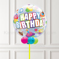 Multicolour Happy Birthday Bubble Balloon