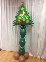 Large Christmas tree balloon design.