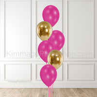 Pink & Gold Balloon Bouquet - Style 002