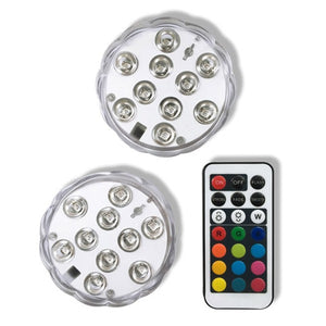 LED balloon lights, set of two with remote control.