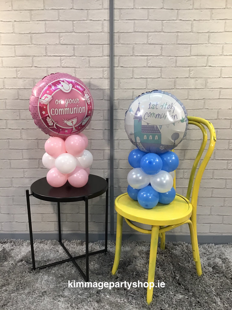 Air filled balloon designs for a table.