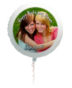 Large personalised photo balloon.