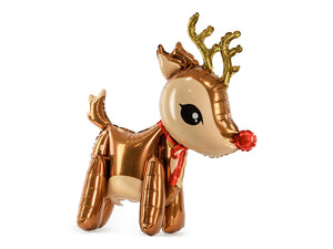 Cute reindeer foil balloon.