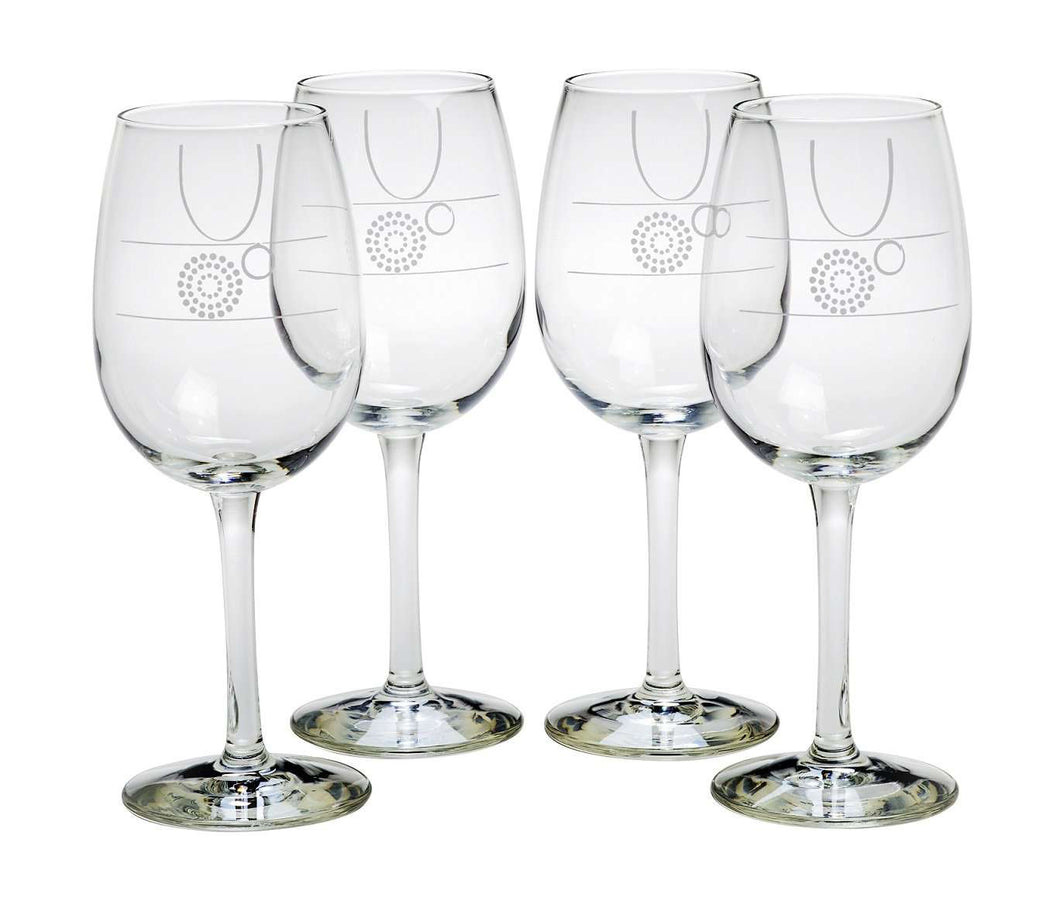 Wine Glasses with Portion Control and Fill Lines