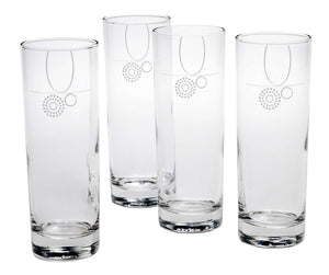 Beverage Glass with Portion Control and Fill Line