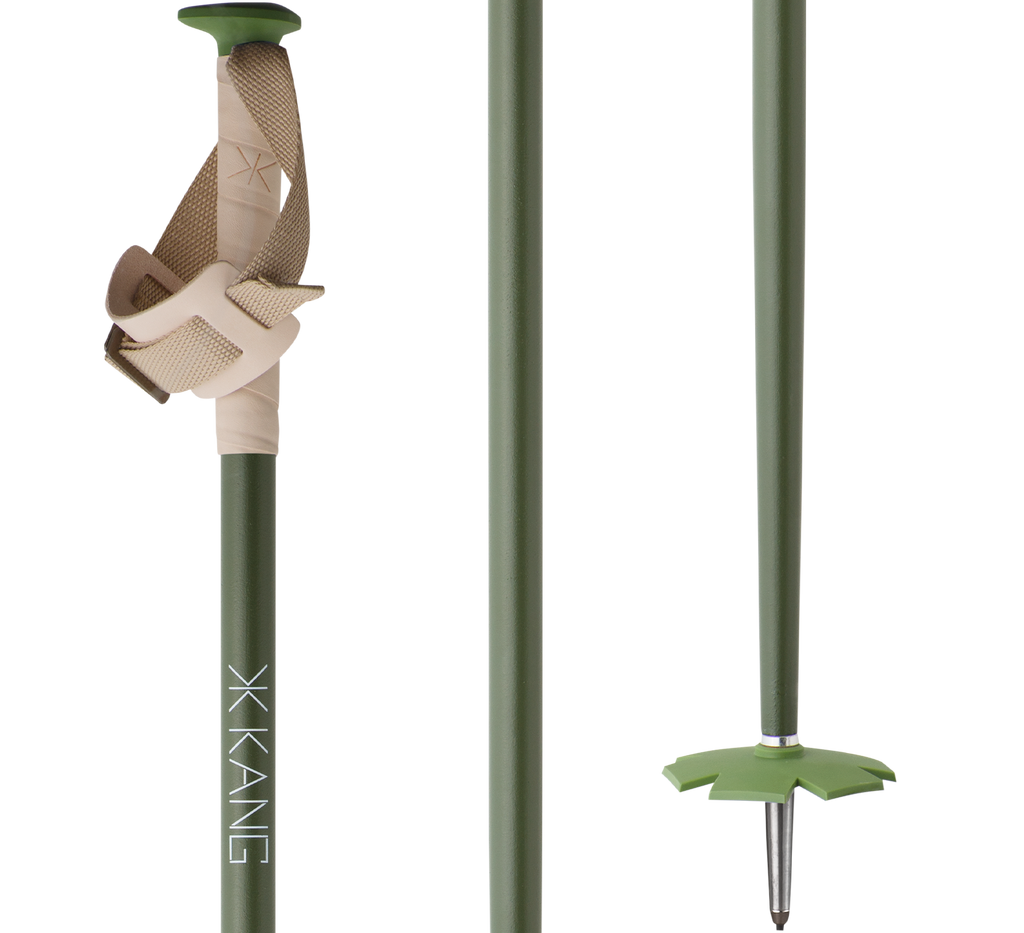 Flax poles with leather grip