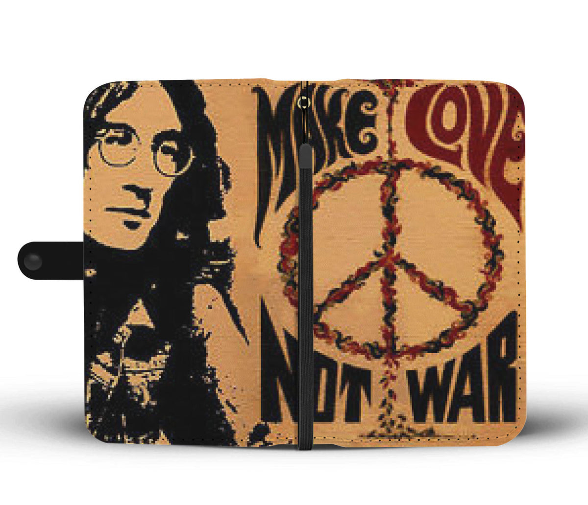 "☮️John Lennon ""Make Love Not War"" Wallet Case☮️"