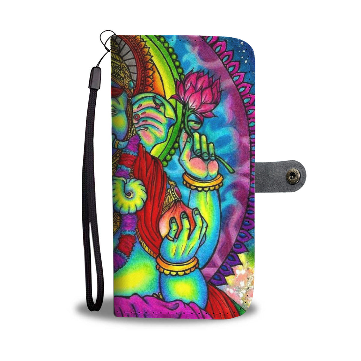 Meditating Elephant Wallet Case