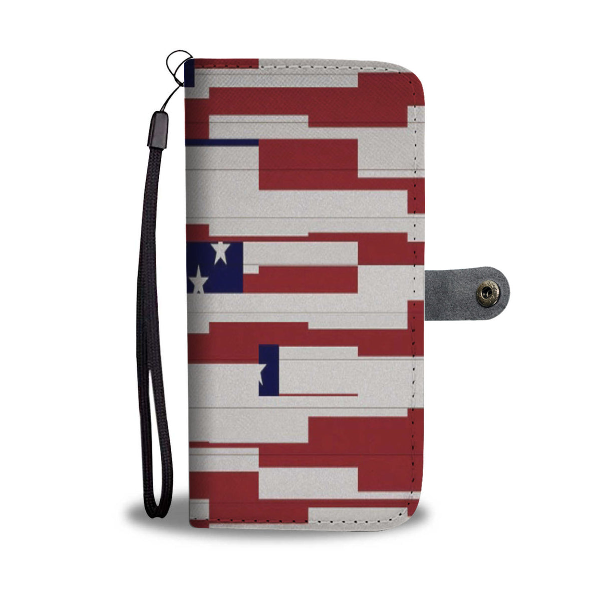 Abstract American Flag Wallet Case