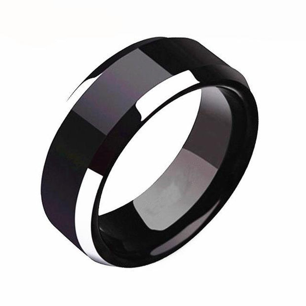 Titanium Black Mens Ring