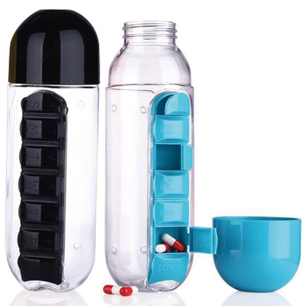 Water Bottle/Daily Pill Box Organizer