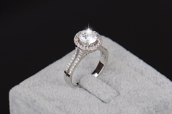 Luxury Women Engagement 925 Silver