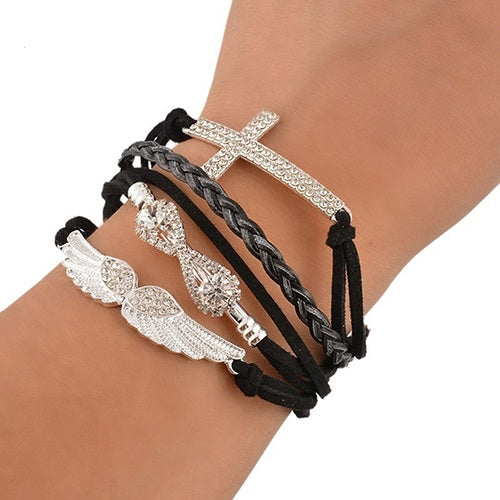 Angel Cross Wing Bracelet