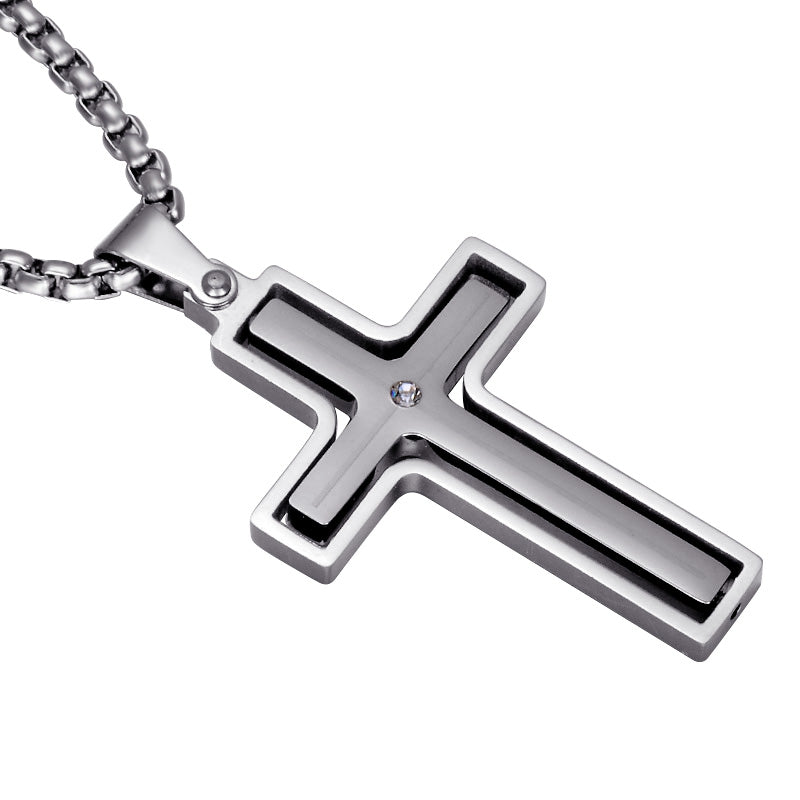 Rotatable Cross Necklace