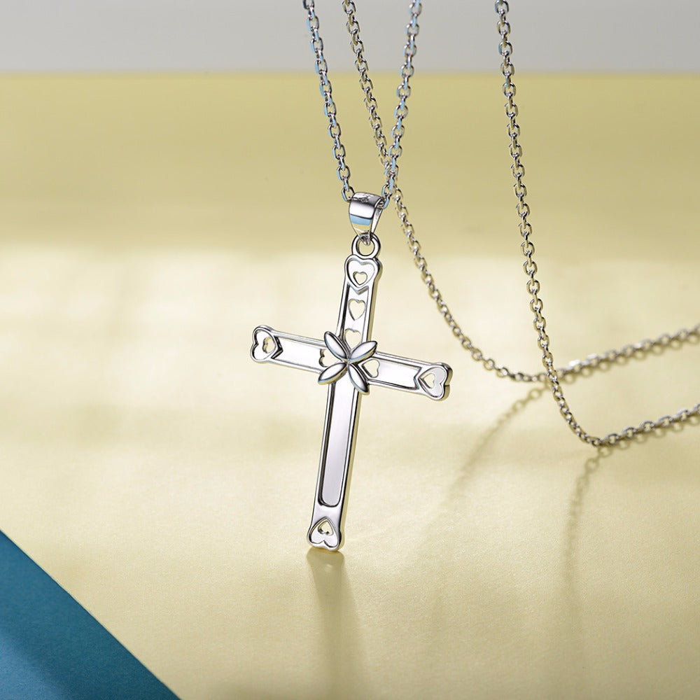 Sterling Silver Jesus Pendant Necklace