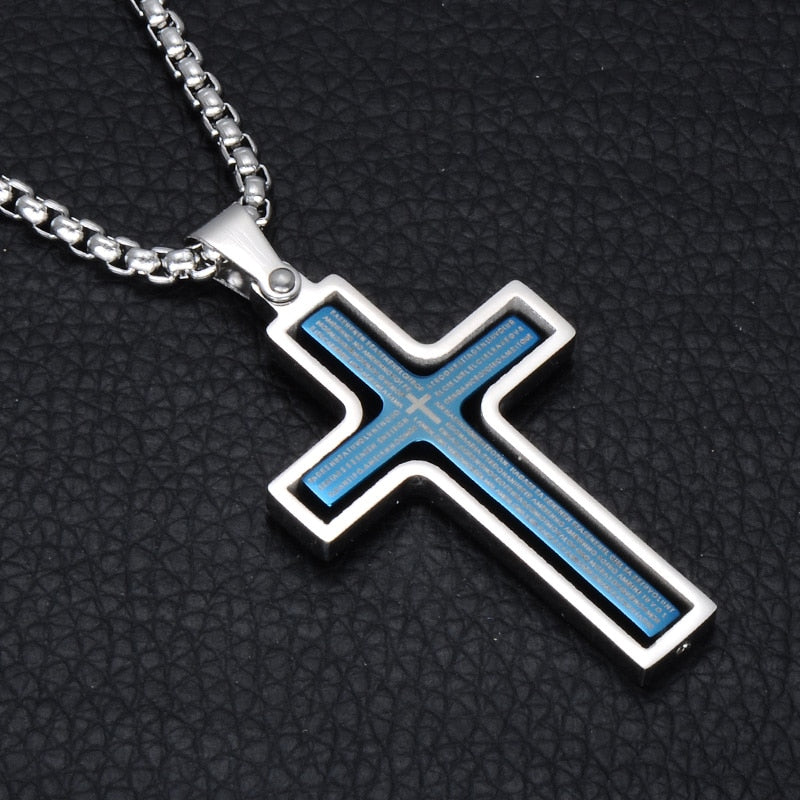 Rotatable Crucifix Necklace