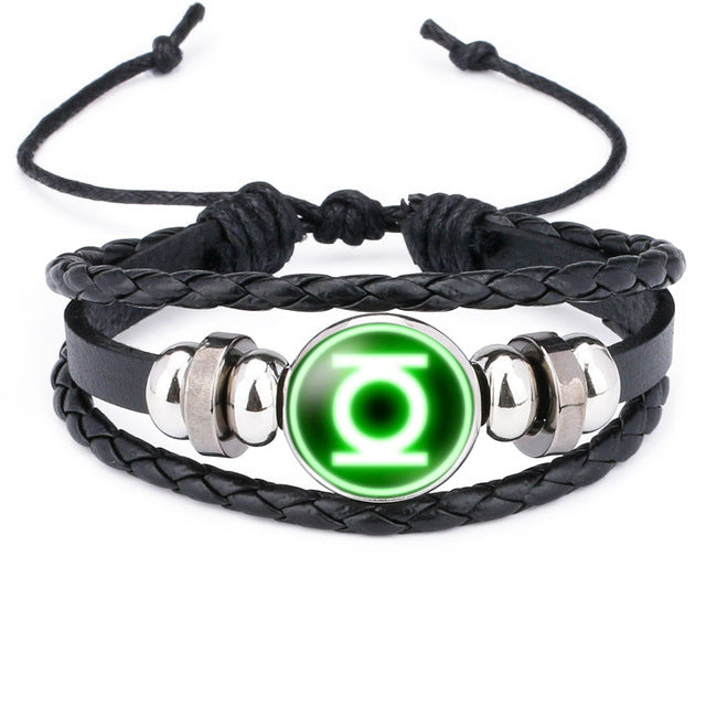 America Super Hero Leather Bracelet